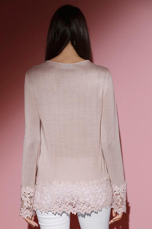 Euro Edit Lace Detail Sweater