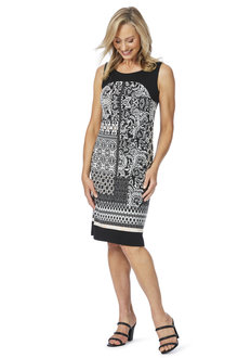 W.Lane Abstract Sleeveless Dress - 200828