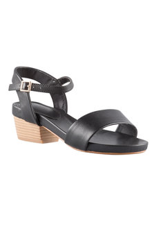 Wide Fit Nanci Block Sandal Heel - 200836