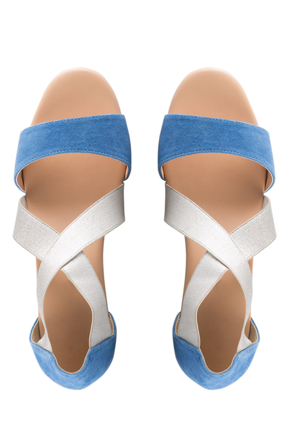 ee90354e8e8 Wide Fit Portia Elasticated Crossover Straps Wedge Online