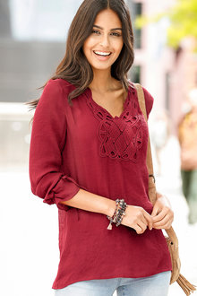 Urban Lace Detail Tunic - 200861