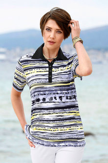 Capture European Striped Polo