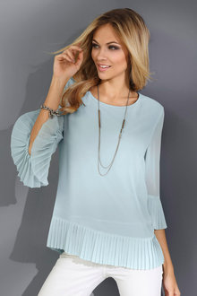 Euro Edit Plisse Detail Top