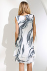 Euro Edit Plisse Layer Printed Dress
