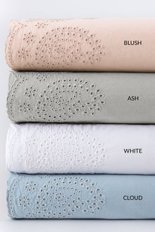 Washed Cotton Anglaise Sheet Set - 200922