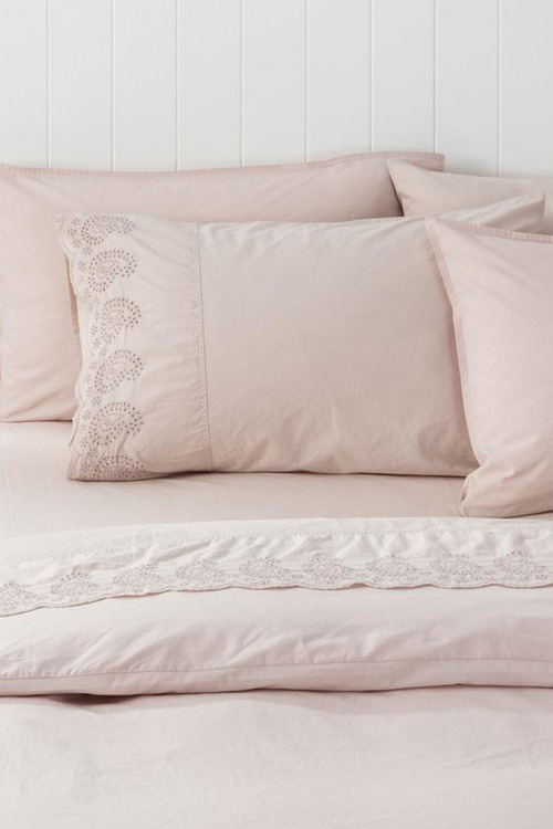 Washed Cotton Anglaise Pillowcase Pair