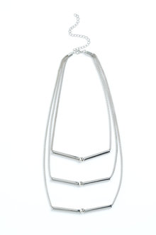 Layered Chevron Necklace - 200941