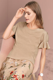 Heine Ruffle Sleeve Top