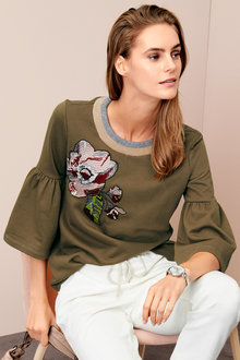 Heine Embroidered Sweatshirt - 200957