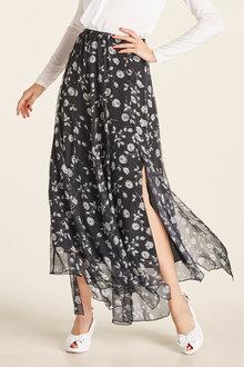 Heine Floral Printed Skirt - 200958
