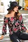 Urban Off Shoulder Floral Print Top