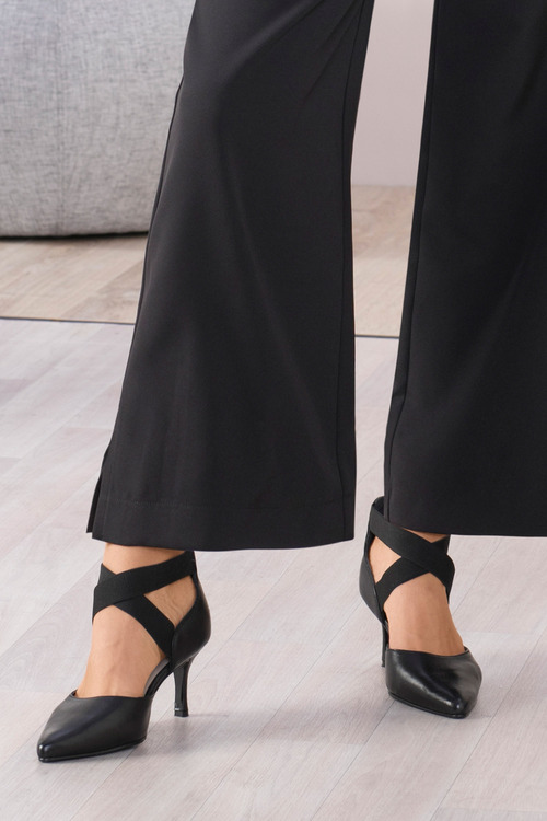 Wide Fit Elana Elasticated Court Heel
