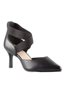 Wide Fit Elana Elasticated Court Heel - 200965