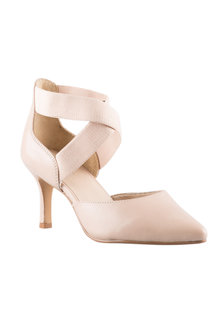 Wide Fit Elana Elasticated Court Heel