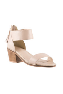 Eleni Tassel Block Sandal Heel