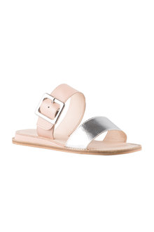 Dusty Buckle Sandal Flat