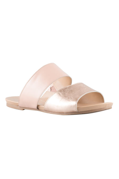 Wide Fit Honor Double Strap Sandal Flat