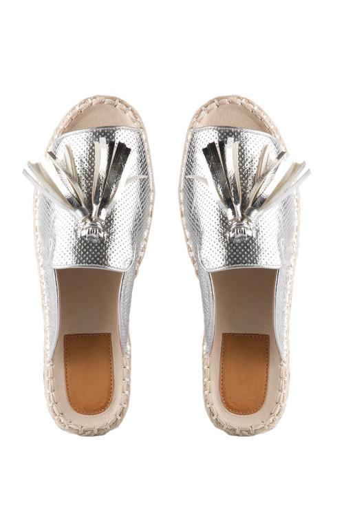 Jasmine Espadrille Tassel Sandal Flat