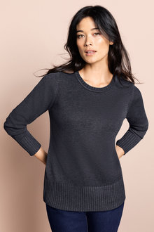 Capture Crew Neck Ribbed Sweater