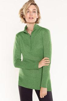Capture 1/2 Zip Ribbed Sweater