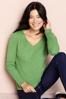 Capture V Neck Ribbed Sweater