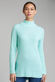 Capture Hi Neck Ribbed Sweater