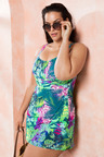 Quayside Woman Wrap Skirted Swimsuit