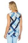 W.Lane Geo Print Drape Blouse