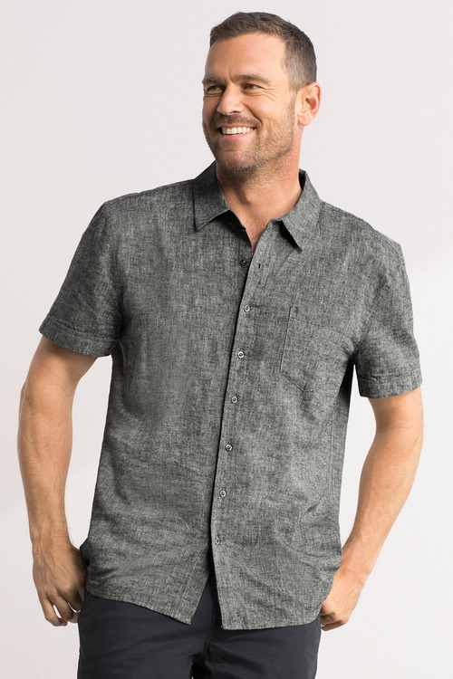Southcape Linen Blend Short Sleeve Shirt