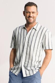 Southcape Linen Blend Short Sleeve Shirt