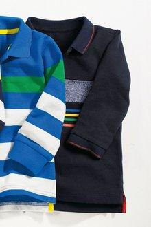 Next Stripe Long Sleeve Polo (3mths-6yrs)