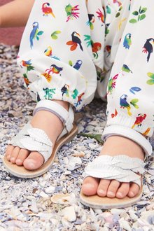 Next Leather Leaf Sandals (Younger Girls)