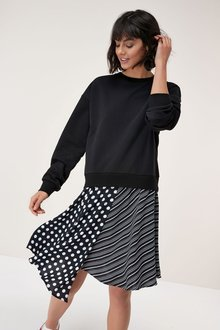 Next Sweat Layer Dress - Tall
