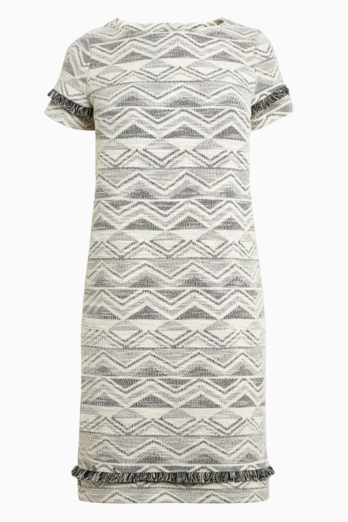 Next Monochrome Jacquard Dress - Tall