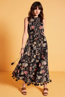 Next Pom Pom Printed Dress - Tall