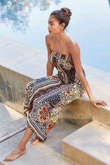Next Border Print Maxi Dress - Tall