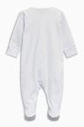 Next Blue Sleepsuit Short Sleeved Bodysuit Bib And Hat (0-9mths)