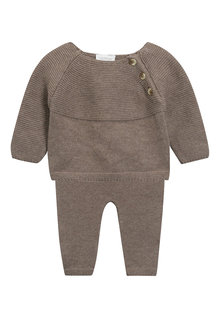 Next Neutral Knitted Two Piece Set (0mths-2yrs)