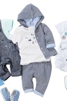 Next Embroidered T-Shirt And Stripe Leggings Set (0mths-2yrs)