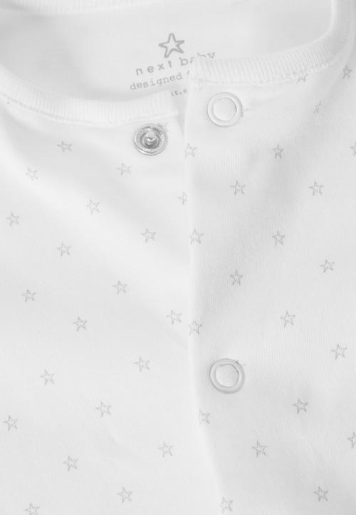 Next White Sleepsuit Short Sleeved Bodysuit Bib And Hat (0-9mths)