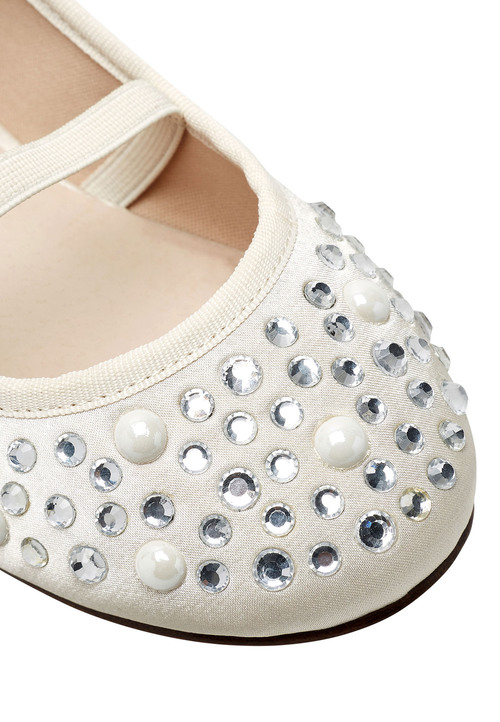 Next Pearl Effect Ballet Shoes (Older Girls)