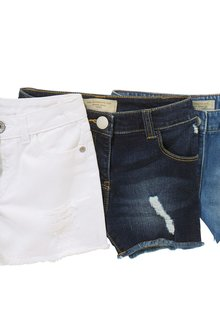 Next Dark Blue Denim Shorts (3-16yrs)