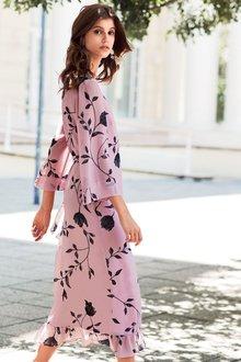 Next Printed Wrap Dress - 201416