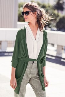 Next Green Kimono Cardigan
