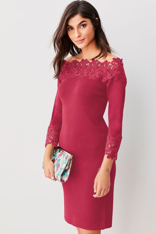 Next Lace Bardot Dress