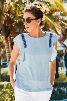 Next Embroidered Tencel  Top