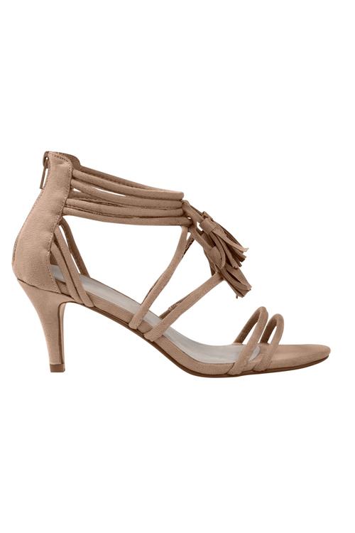 Jody Tassels Sandal Heel