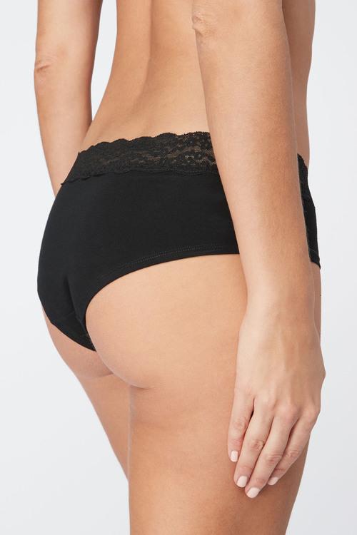 Next Lace Trim Cotton Shorts Four Pack