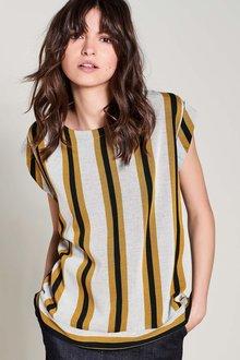 Next Ochre Stripe T-Shirt