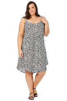 Plus Size - Beme Sleeveless Animal Midi Dress